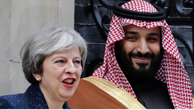 Mohamed Bin Salman con Theresa May